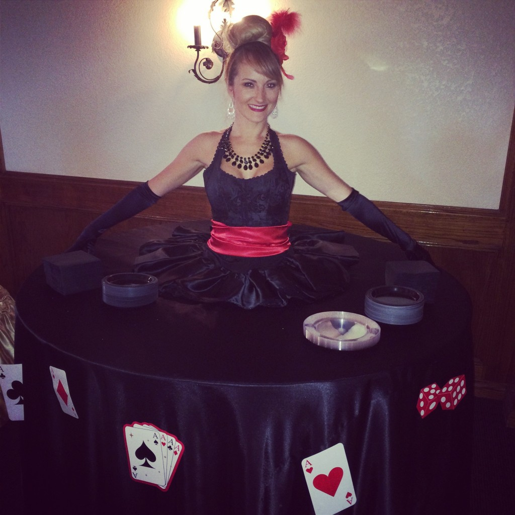 Queen of Hearts themed strolling dress